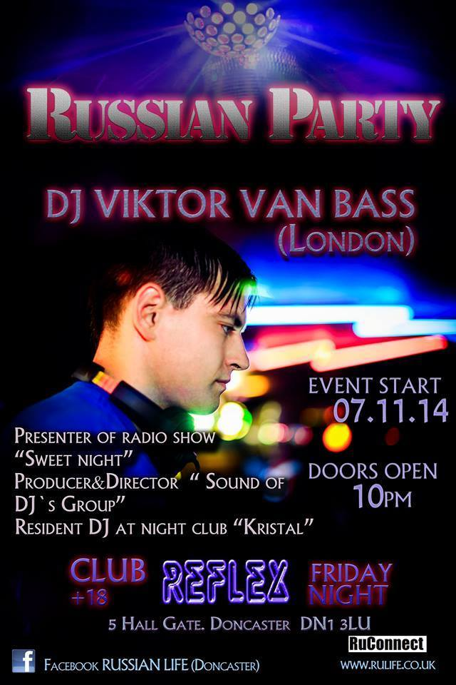 07.11.14 Doncaster – Club Reflex – Russian Party